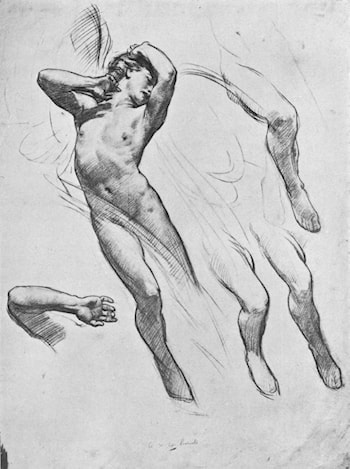 Study for the Figure of Love in Love Leaving Psyche by Harold Speed