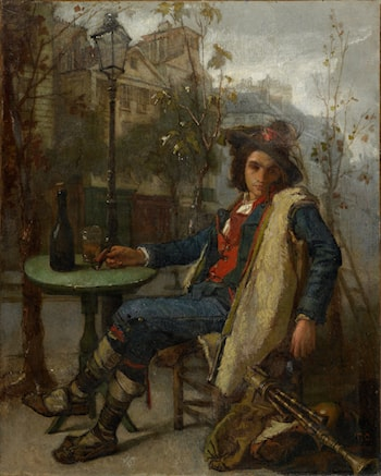 Young Italian Street Musician by Thomas Couture