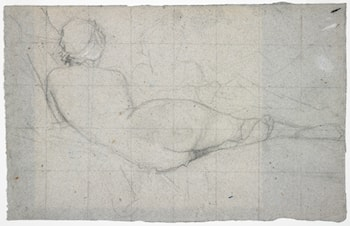 Recumbent Female Nude and Partial Study of a Second Female Figure by Thomas Couture