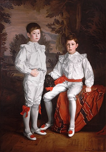 Portrait of Molson Brothers Harold and Eric, sons of J. Elsdale by Gerald F. Metcalfe