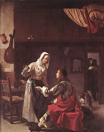 Brothel Scene by Frans van Mieris