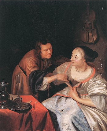 Carousing Couple by Frans van Mieris