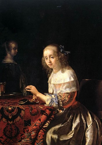 The Lacemaker by Frans van Mieris