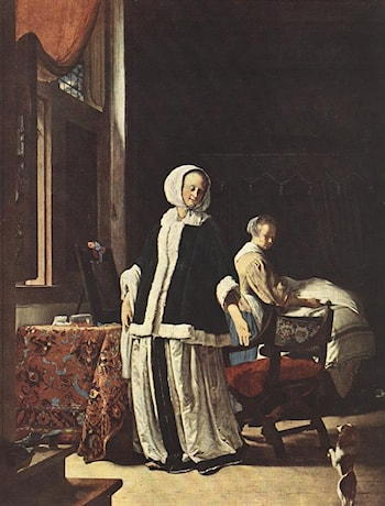 Young woman in the morning by Frans van Mieris