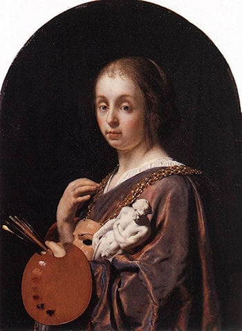 Pictura (an allegory of painting) by Frans van Mieris