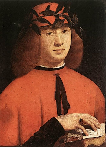Portrait of Gerolamo Casio by Giovanni Antonio Boltraffio