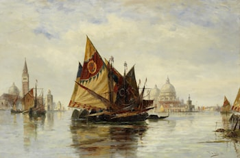 Bragazzo in the Lagoon Venice by Thomas Bush Hardy