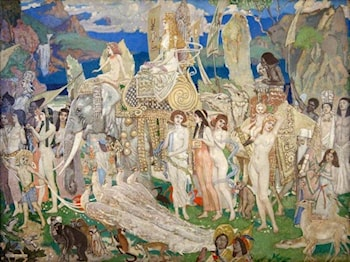 Ivory, Apes and Peacocks (The Queen of Sheba) by John Duncan