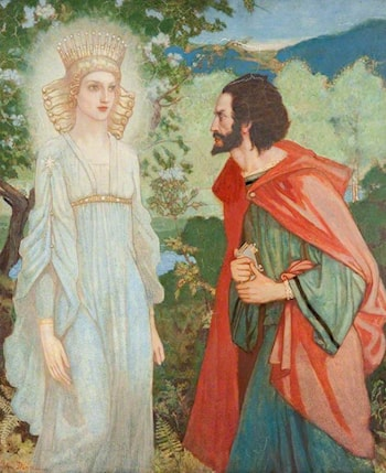 Merlin and the Fairy Queen by John Duncan