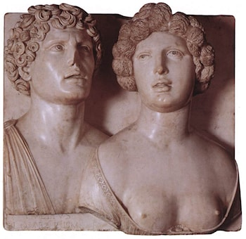 Self­portrait (?) with his Wife in Ancient Guise by Tullio Lombardo