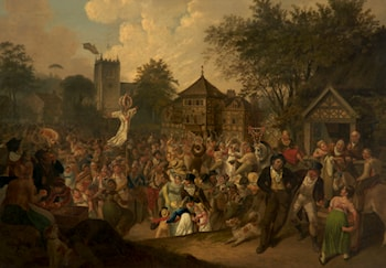 Eccles Wakes Fair, May Day 1822 by Joseph Parry