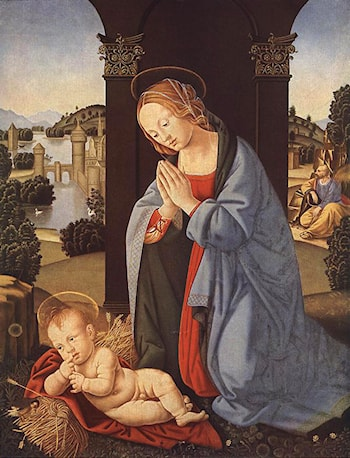 The Holy Family by Lorenzo di Credi