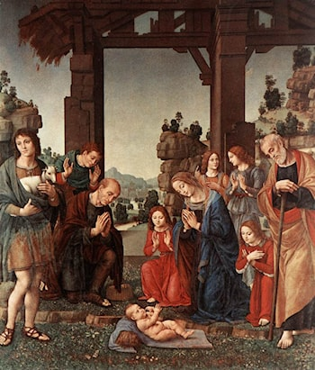 Adoration of the Shepherds by Lorenzo di Credi