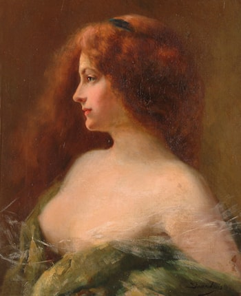 Portrait of a Brunette Woman by Angelo Asti