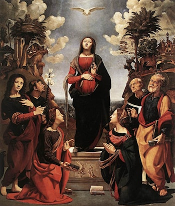 Immaculate Conception with Saints by Piero di Cosimo