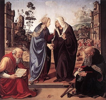 The Visitation with Sts Nicholas and Anthony by Piero di Cosimo