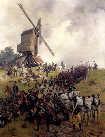 The Battle Of Waterloo by Ernest Crofts