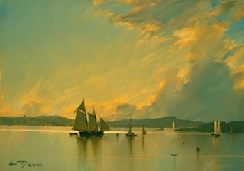 Hudson River Reflections by William Davis