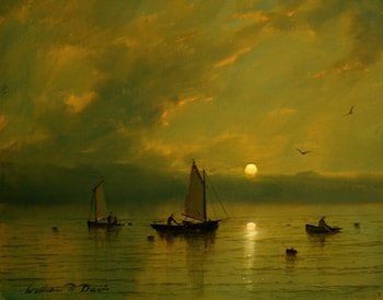 Late Day Fishermen by William Davis