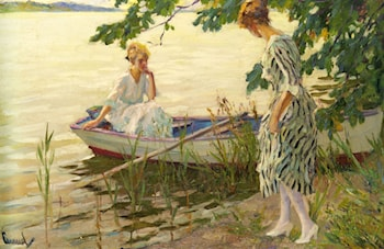 An Afternoon on the Lake by Edward Cucuel