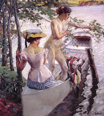 The Bathing Place by Edward Cucuel