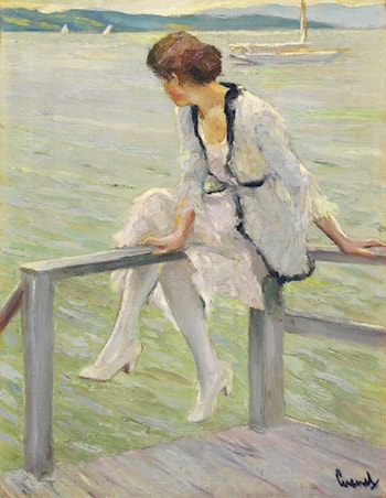 Young Woman on the Lake Starnberger See by Edward Cucuel