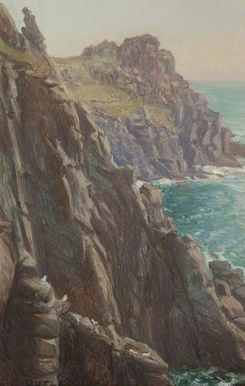 Rocks at Land's End by Charles Ernest Butler