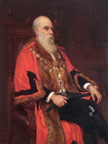 William John Lancaster, Mayor of Wandsworth by Charles Ernest Butler