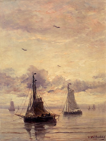 Evening Anchorage by Hendrik Willem Mesdag