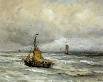 Off The Coast by Hendrik Willem Mesdag