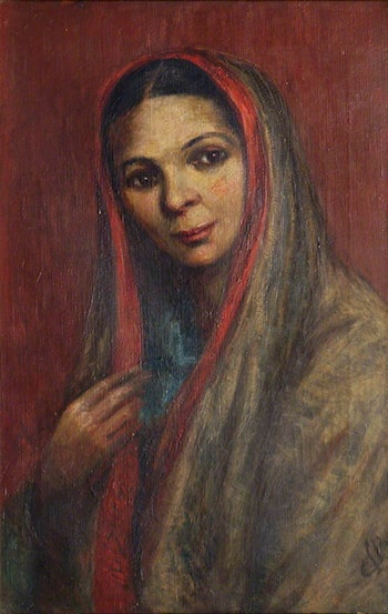 Portrait of an Indian Lady by Cecil Leonard Burns