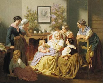 Grandmother's Story by Hugues Merle