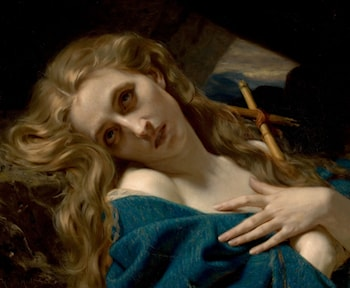 Mary Magdalene in the Cave by Hugues Merle