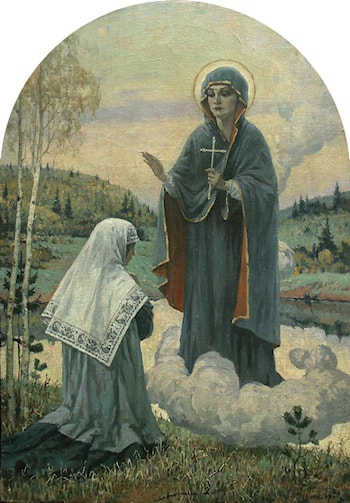 The Apparition of the Virgin by Mikhail Nesterov