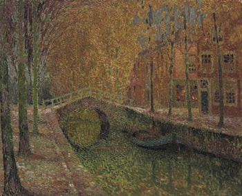 Le canal, Delft by Henri Le Sidaner