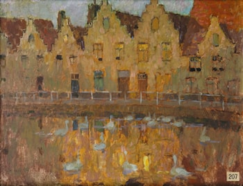 Houses in Bruges by Henri Le Sidaner