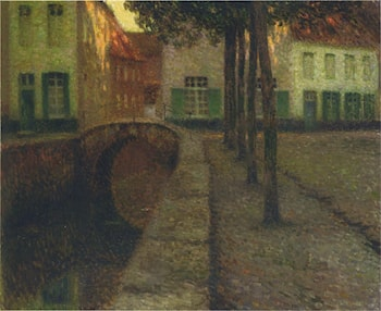 The Canal by Henri Le Sidaner