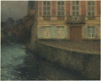House by the Quentin Canal by Henri Le Sidaner