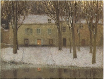 Little place by the river by Henri Le Sidaner