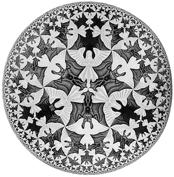 Circle Limit IV (Heaven and Hell) by M.C. Escher