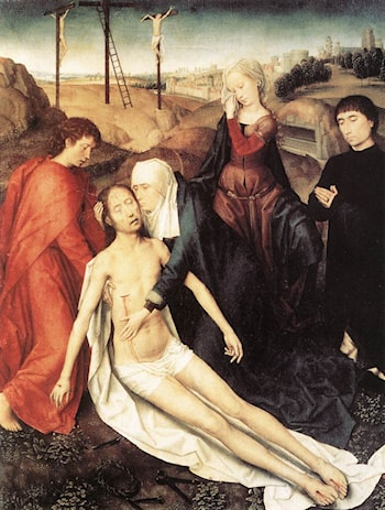 Lamentation by Hans Memling