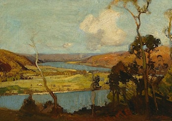 Hawkesbury Landscape by Sydney Long