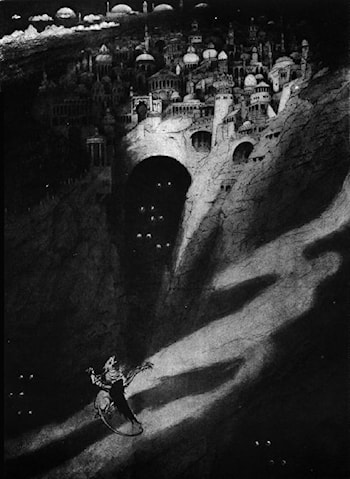 How one came, as was foretold, to the City of Never by Sidney H. Sime