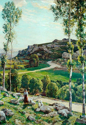 A Road in Provence by Herbert Edwin Pelham Hughes-Stanton