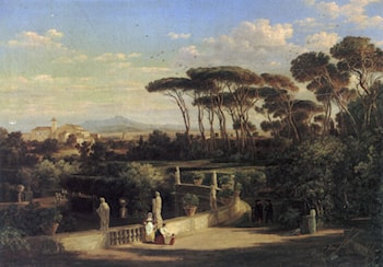 A view of Rome by Friedrich Mayer
