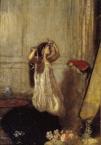 A Girl with a Parrot by Henry Tonks