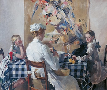 Jane, Evelyn, James and Helen by Philip Connard