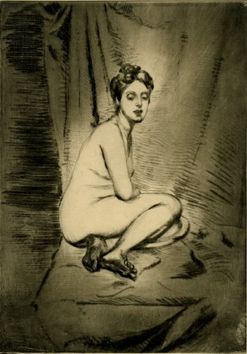 Figure of a Woman Crouching by Théodore Roussel