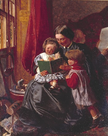 Mother and Children Reading by Arthur Boyd Houghton