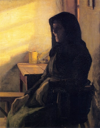 A Blind Woman in Her Room by Anna Ancher